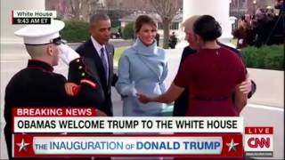 Melania Trump and Michelle Obama's Awkward Handshake | Inauguration Of Donald Trump |