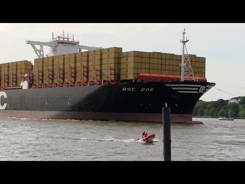 MSC ZOE - Maiden Call to Port Of Hamburg / First Visit
