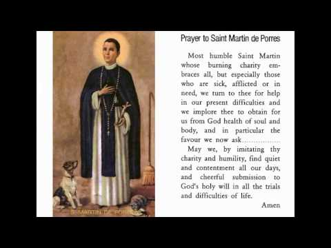 Image result for prayer for St martin de porres for children