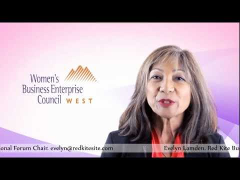 Women Business Enterprise WBEC-West Regional Form Chair Evelyn Lamden ( Red Kite )
