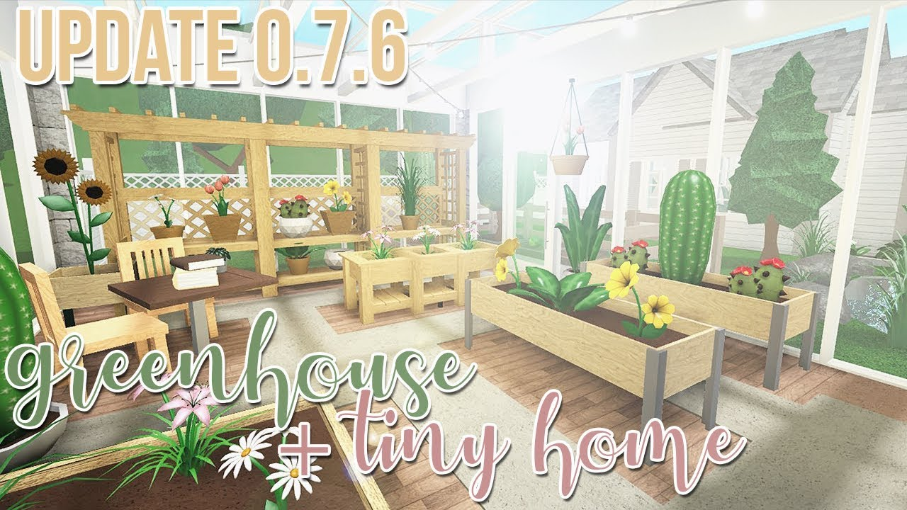 New Bloxburg Update Review Build Greenhouse Tiny Home