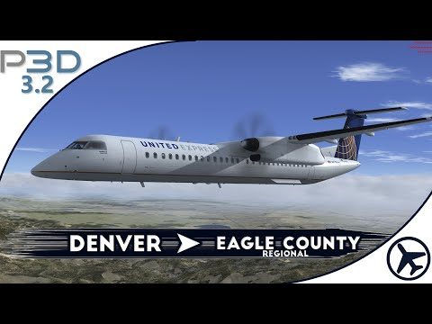 [P3Dv3] MJC Q400 | Denver - Eagle County [IVAO]