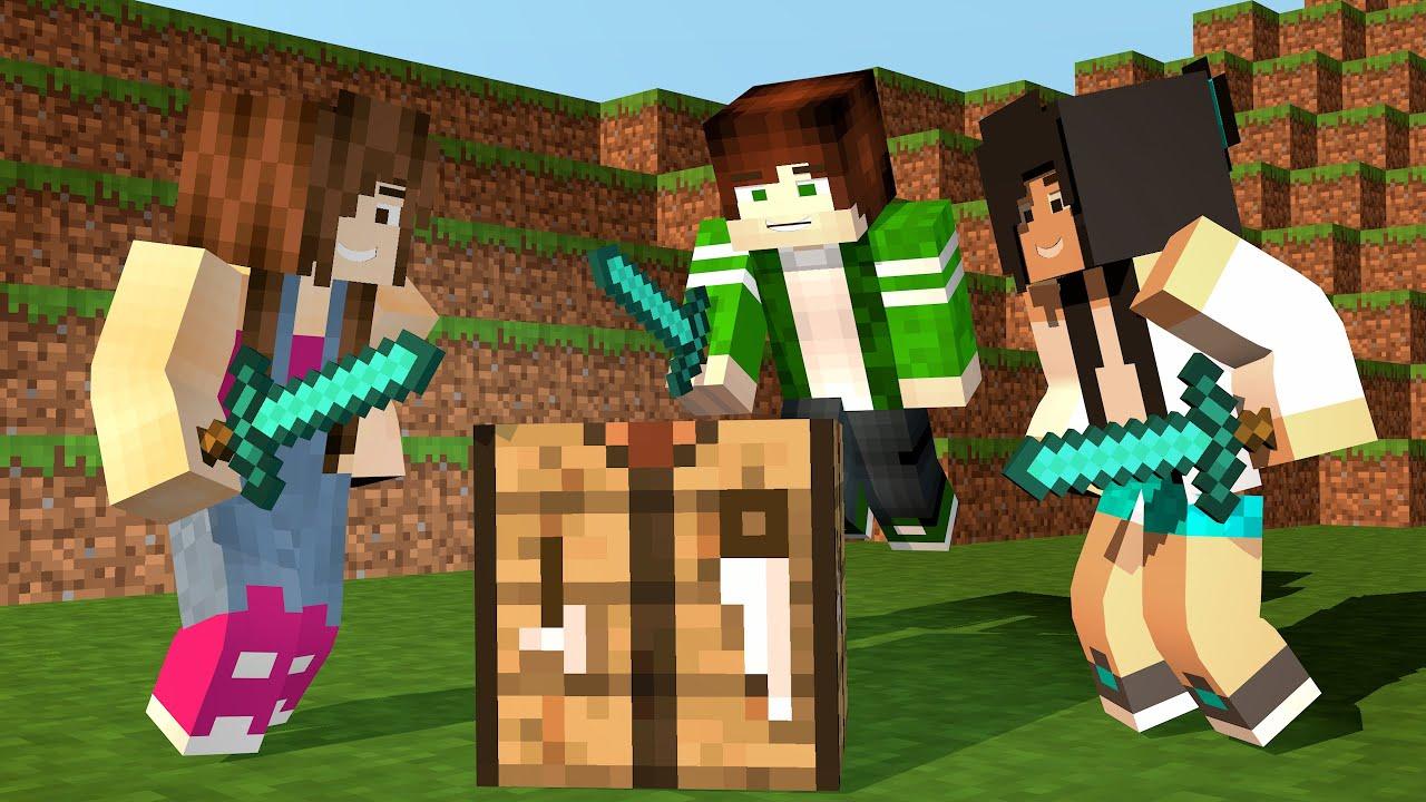 Minecraft - ESCONDE-ESCONDE COM JULIA E CRIS MINEGIRL ...