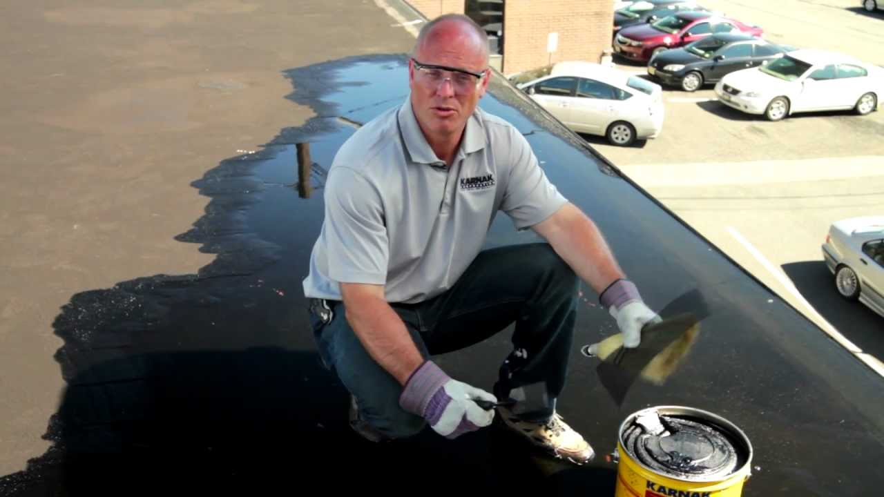 How to repair a flat roof leak Underwater permanently - Karnak 19 Ultra  Rubberized Flashing - YouTube
