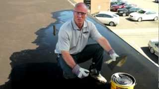 How To Repair A Flat Roof Leak Underwater Permanently - Karnak 19 Ultra Rubberized Flashing