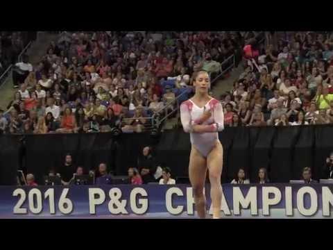 Aly Raisman- Floor Exercise - 2016 P&G Gymnastics Championships – Sr. Women Day 2