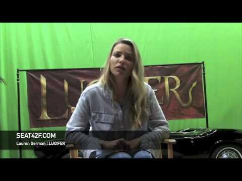 Lauren German LUCIFER Set Visit
