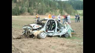 Jan Kopecky crash Rally Tatry 2003 Skoda Octavia WRC