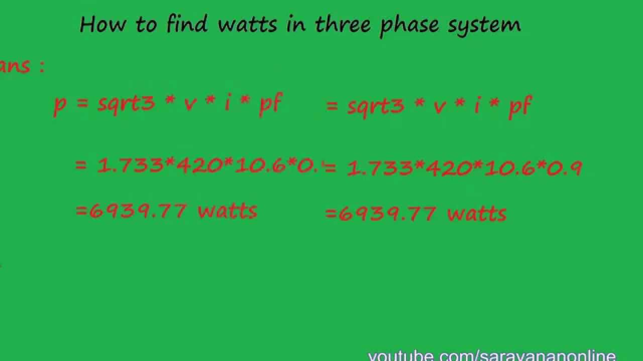 Different Between 1 Phase Kw And 3 Phase Kw Electrical