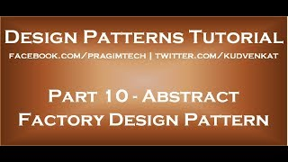 Abstract Factory Design Pattern