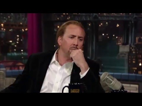Nicolas Cage - Interview with Letterman (2010) [Full]