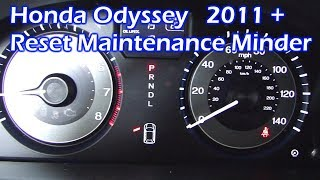 Honda Odyssey Reset Maintenance Minder 2011 and Newer