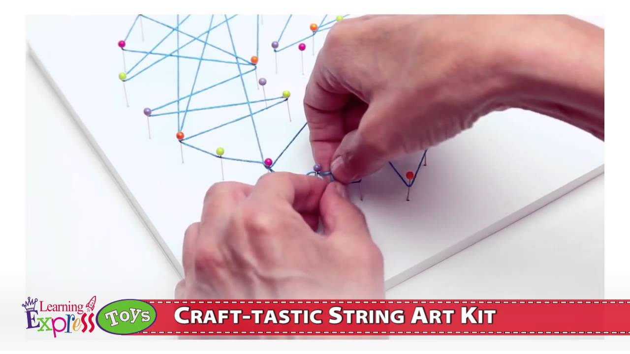 53782baba Craft-tastic String Art Kit - YouTube