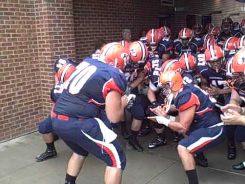 Hobart College Football Team Taking Field Vs. Geneva College