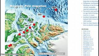 Earth Changes! Magnetic North Pole Moving, Russia has Snow in June & 70 year floods in Europe!