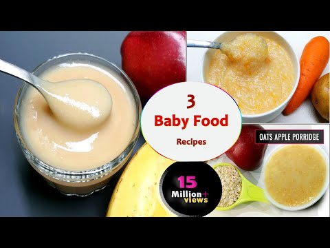 3 Baby food recipes || 7 to 12 months baby food || Healthy & tasty baby food