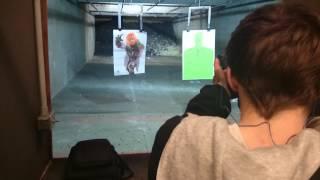 Rhett at gun range