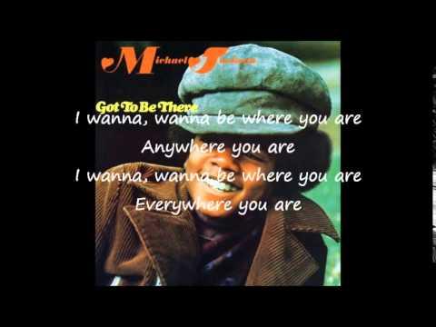 Michael Jackson   I wanna be where you are Lyrics