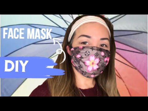 DIY FACE MASK / NO SEWING MACHINE / WATER RESISTANT WITH POCKET FOR FILTER / EASY TO MAKE AT HOME