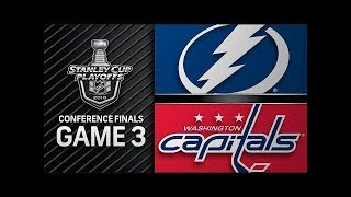 NHL 18 PS4. 2018 STANLEY CUP PLAYOFFS EAST FINAL GAME 3: LIGHTNING VS CAPITALS. 05.15.2018. (NBCSN)!