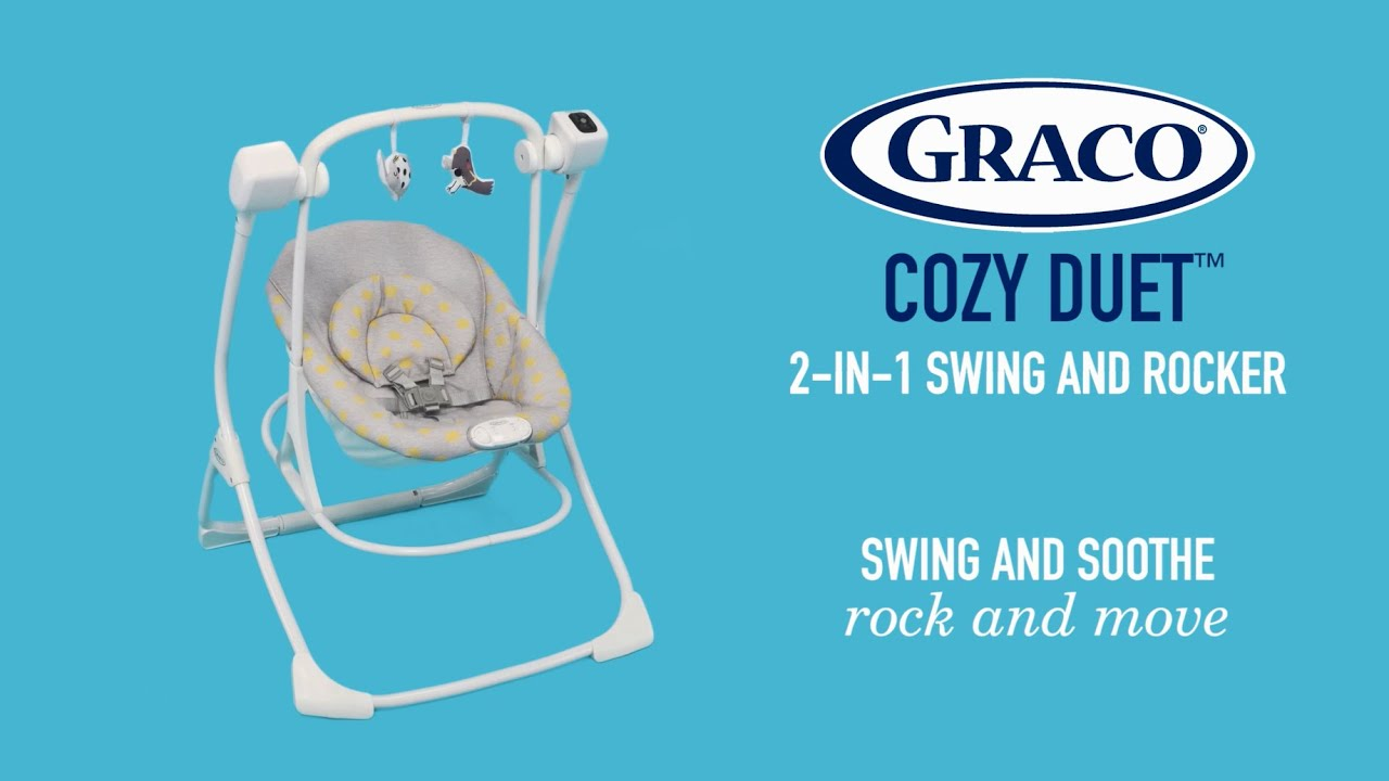 e52b2d42d1ac Graco® Cozy Duet™ 2-in-1 swing and rocker keeps baby close by - YouTube