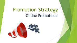 Marketing Mix: Online Promotions