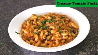 Creamy Tomato Macaroni - Quick Tiffin/ Snack  | Kid's Recipe | Sruthi's Kitchen