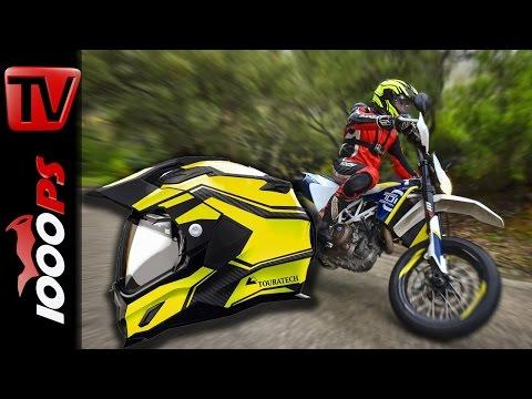 Touratech Aventuro - Motorradhelm Test 2015 : Erster Eindruck
