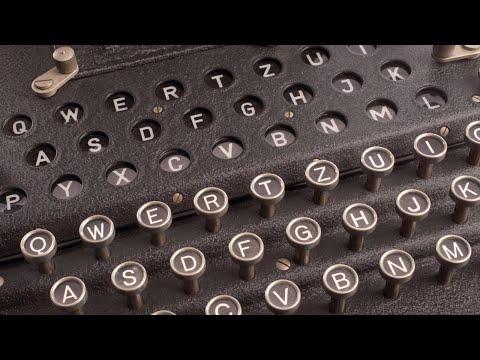Video demo of the Enigma machine