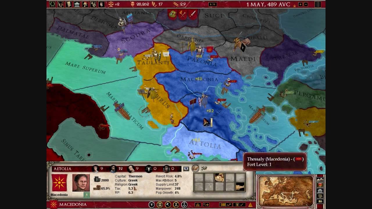 PrinceofMacedon Plays Europa Universalis Rome YouTube - Eu rome map