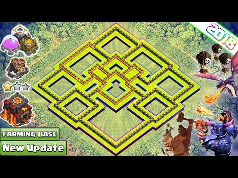 NEW TH10 Farming Base 2018 | BEST TH 10 Base with Geared Ups | Anti 2 & 3 Star | Clash of Clans 2018