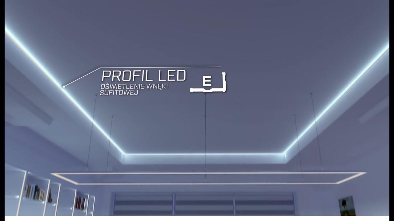 Montaż Taśmy Led W Profilu Aluminiowym E Montaż Profilu Led Oświetlenie Led Lumines