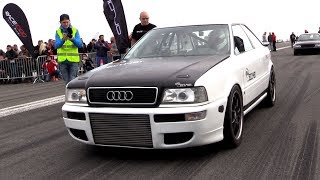 1350HP Audi S2 Turbo FROM HELL!! INSANE Launch Controls 0-328 km/h!!