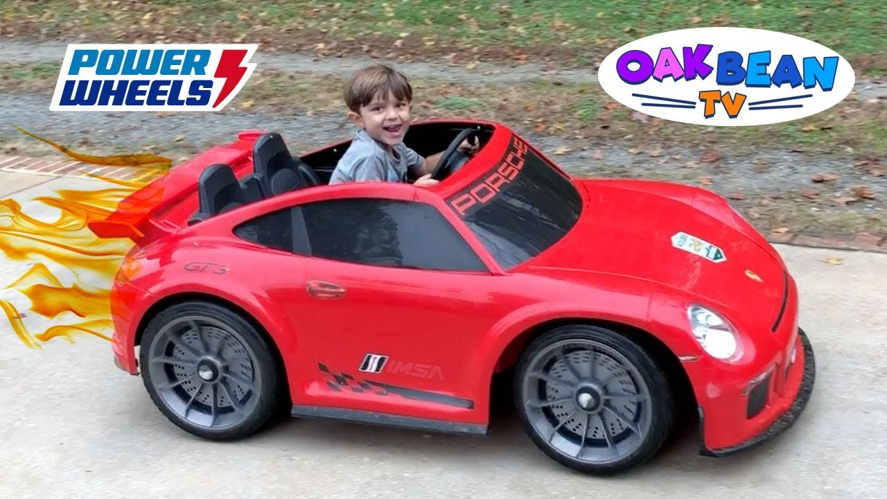 Power Wheels Porsche 911 Gt3 Racing Accident Ride On Play
