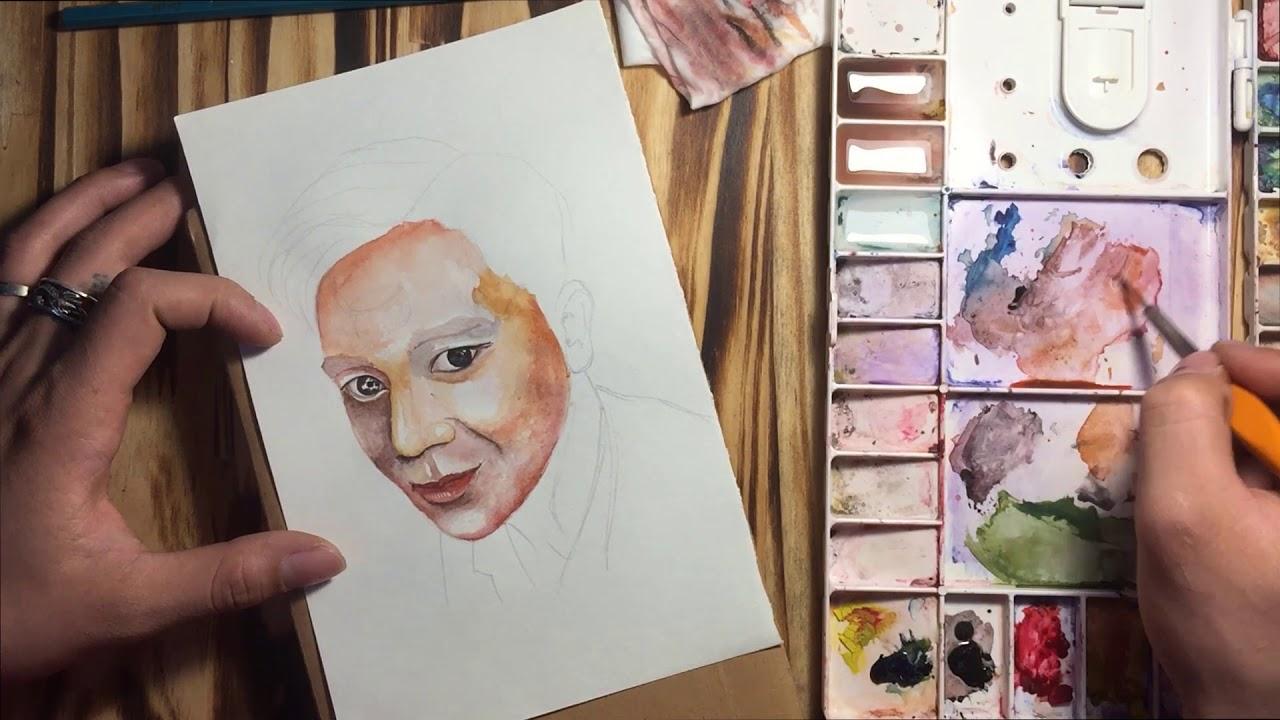 Vẽ Tranh Màu Nước (Watercolor) -Hướng Dẫn Vẽ Chân Dung Đơn Giản Cho Người Mới Bắt Đầu (p3)-ART