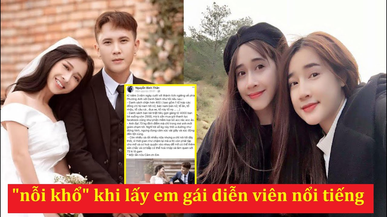 """Em rể Nhã Phương quyết định 1 lần kể hết về những """"nỗi khổ"""" khi lấy em gái diễn viên nổi tiếng .."""