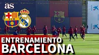 BARCELONA REAL MADRID | Entrenamiento del Barça previo al Clásico | Diario AS