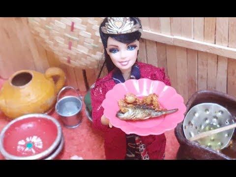 Putri Keong Mas Masak Ikan Mas Cerita Anak Boneka Barbie Bahasa Indonesia Terbaru Youtube