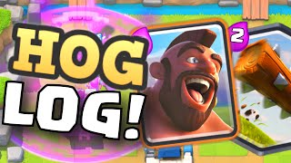 clash royale hog rider log cycle deck strategy new cheap elixir cost deck best or worst legendary