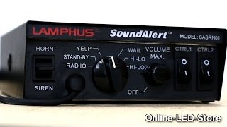 LAMPHUS® SoundAlert™ 100W  Siren PA System w/Light Control Switches & Speakers Demo (NEW VERSION)