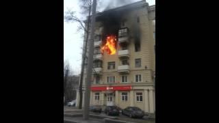 Пожар в Москве. Пассивные действия пожарных.