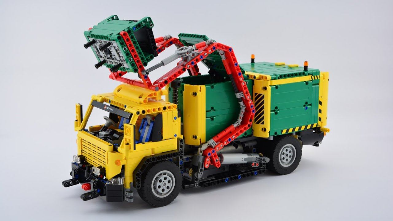 Moc Lego Technic Front Loaded Rc Garbage Truck Youtube