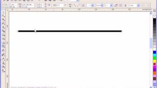 Прямая линия в Corel Draw
