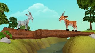The Two Goats - Think Before You Act   Bengali Stories for Children   Infobells