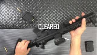 FC HOOK AR-15 FIXED MAG : HOW TO SAFELY CLEAR A DOUBLE FEED MALFUNCTION