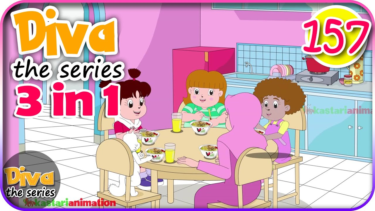 Seri Diva 3 in 1 | Kompilasi TAHUN BARU - 3 Episode ~ Bagian 157 | Diva The Series Official