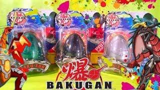 3 Baku-Egg - Dragon Transformers! Unboxing Baku magazine x secret wars baku Egg Dragon for Kids!