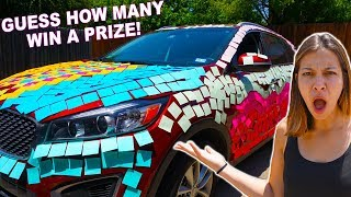 PRANKING MY WIFE WITH STICKY NOTES ON CAR! (Start of Husband Wife Prank War?!)