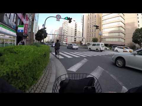 Cycling in Osaka : Matsuya-machi-suji _ Nozakicho _ Ōgimachi _ Umeda _ Osaka Station