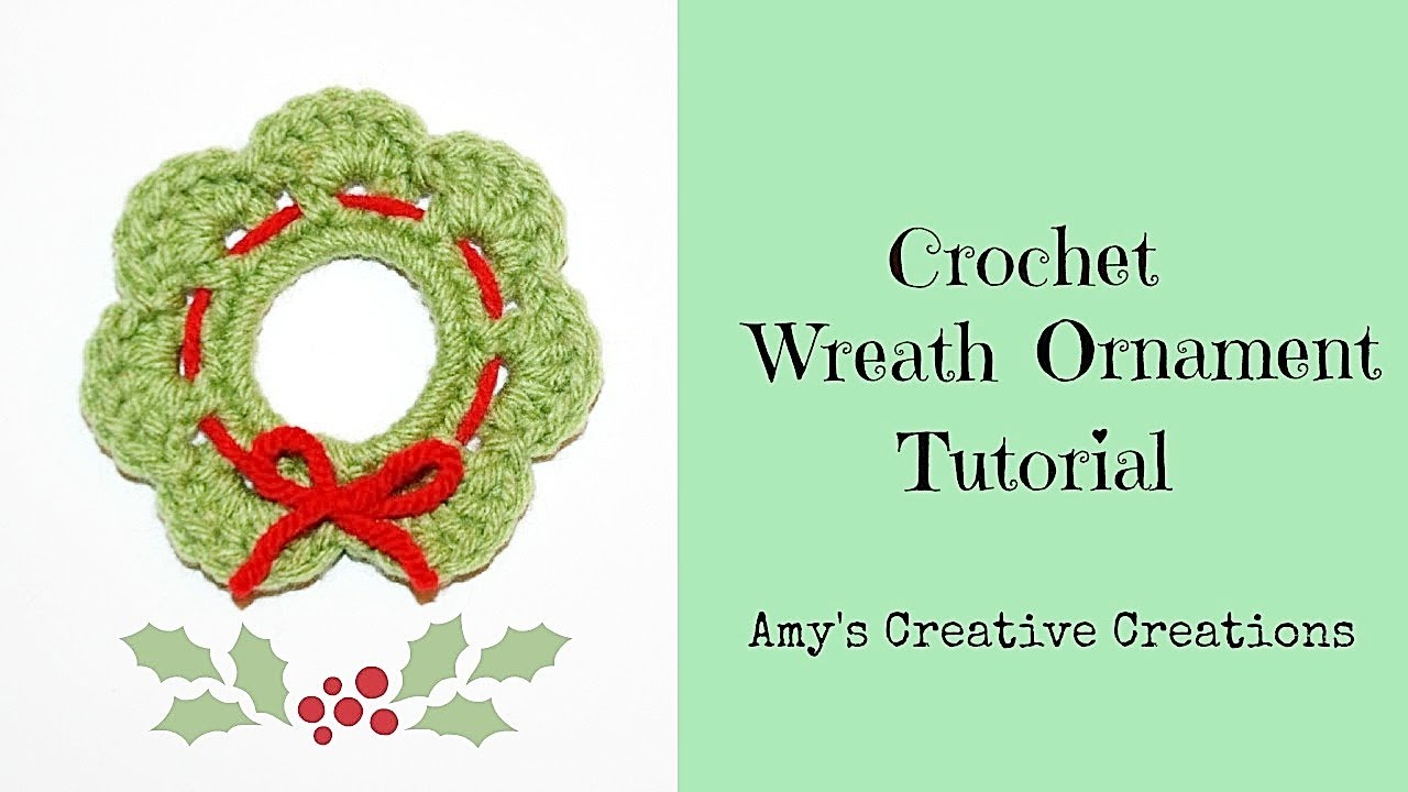 Crochet Wreath Ornament Tutorial Crochet Jewel Youtube